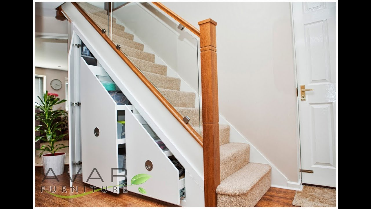 Basement Stairs Design: Top 40 Under Staircase Storage Design Ideas