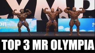 TOP 3 Bodybuilders at 2017 Mr  Olympia - Phil Heath, Big Ramy and William Bonac