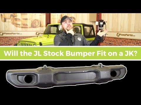 Can you fit a Stock Jeep JL Bumper on a Jeep JK?