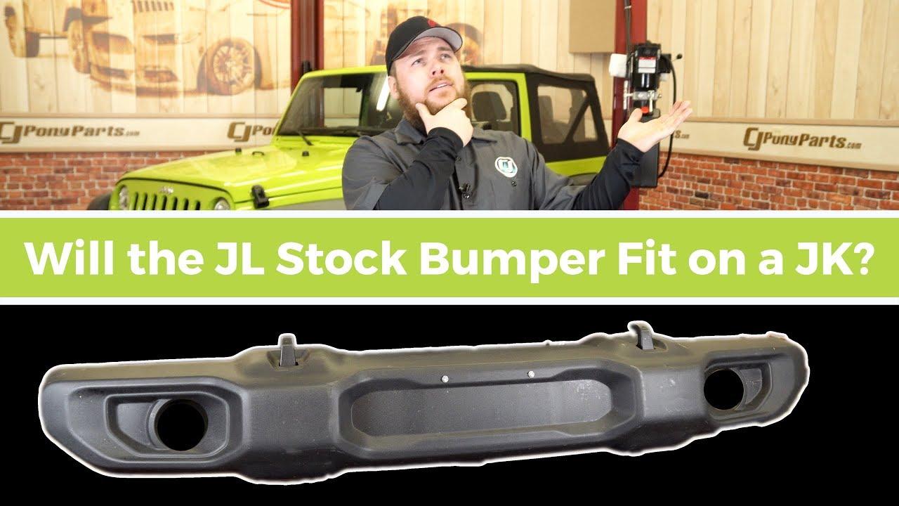 Jeep Jk Front Bumper >> Can you fit a Stock Jeep JL Bumper on a Jeep JK? - YouTube