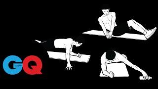 完美腹肌連續動作3步驟3組合|GQ active 三浦春馬 検索動画 17