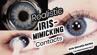 Uris Genetic Series Colored Contact Lenses Try-On | PinkyParadise