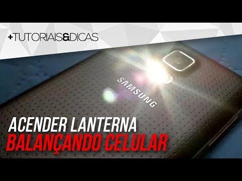 Truque Android: BALANCE O Celular E ACENDA A LANTERNA Ou CÂMERA
