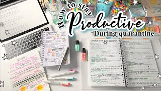 how to stay productive during quarantine + study vlog 📝✨