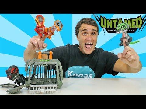 fingerlings-untamed-t-rex-dinosaurs!---jailbreak-playset-||-toy-review-||-konas2002