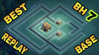 BEST BUILDER HALL 7 BASE LAYOUT WITH REPLAY PROOF | COC BH7 TROPHY BASE DESIGN | CLASH OF CLANS