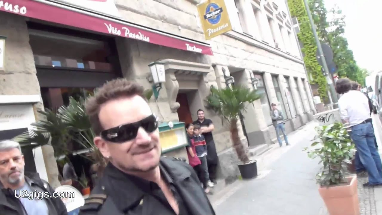 u2 bono in front of hansa studios meistersaal in berlin 2011 05 03 youtube. Black Bedroom Furniture Sets. Home Design Ideas