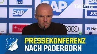 Die Pressekonferenz nach dem Bundesligaspiel gegen den SC Paderborn