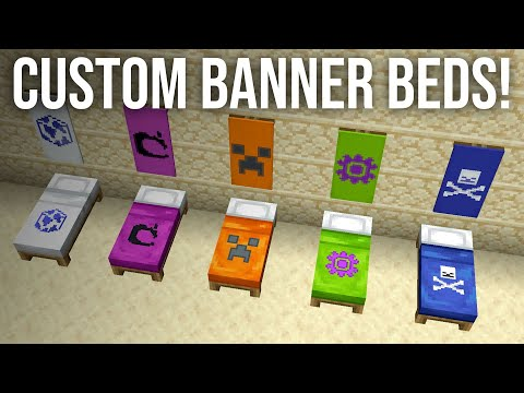 How To Get Custom Banner Beds In Minecraft