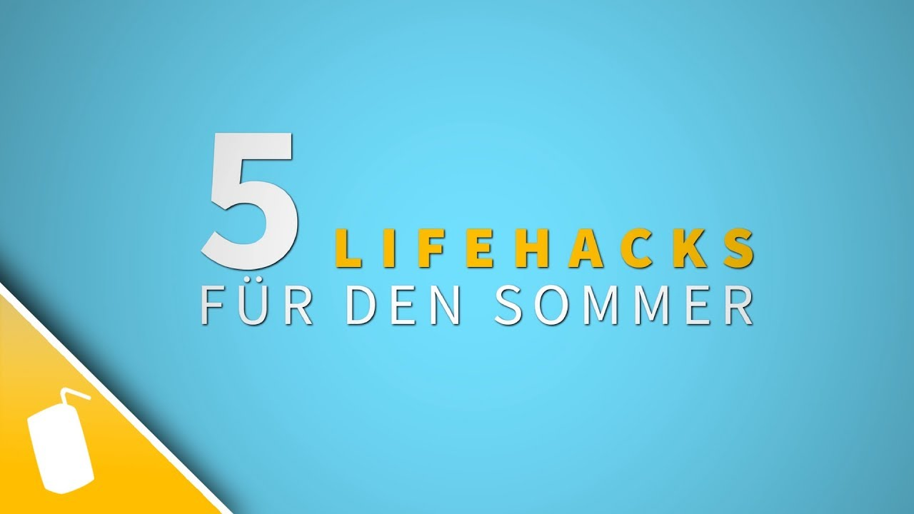 5 lifehacks f r und gegen die hitze youtube. Black Bedroom Furniture Sets. Home Design Ideas