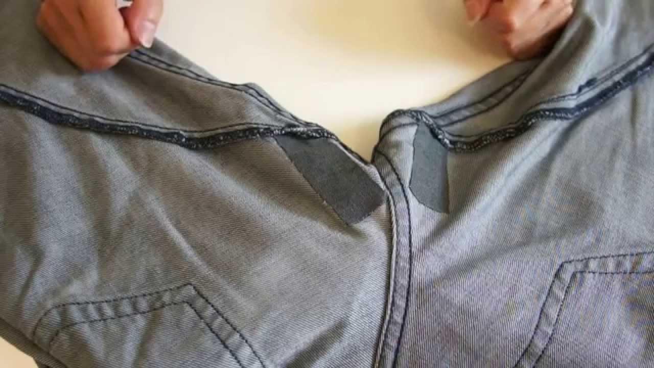 R paration d 39 un jean trou youtube - Comment reparer un jean troue au genou ...