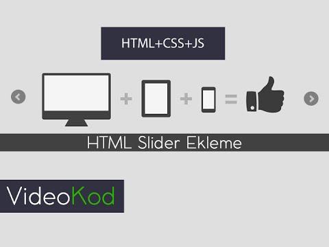 HTML Slider Ekleme