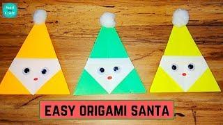 Christmas Origami easy Santa | Origami for kids easy step by step