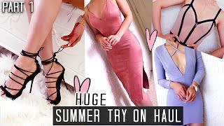 HUGE SUMMER TRY-ON HAUL ❤ DRESSY CUTE  TRENDY AF CLOTHES