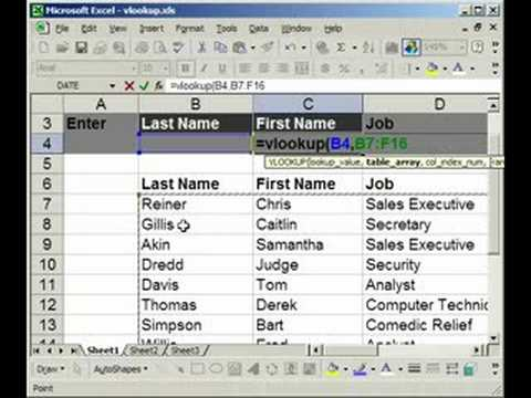 VLOOKUP Introduction, Explanation, Example in Excel (1 of 2) - YouTube