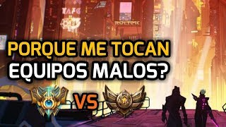 POR QUE ME TOCAN EQUIPOS MALOS en League of Legends? MMR, Smurfs y los Secretos de Lol
