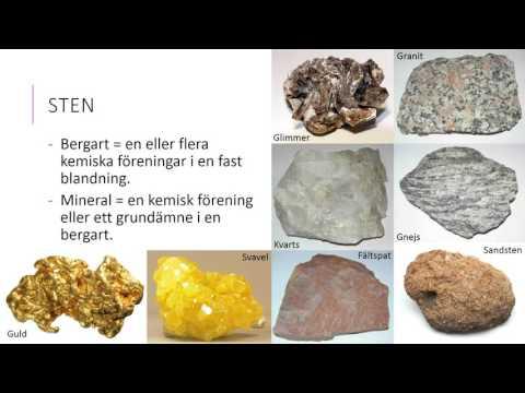 kristaller i bergart