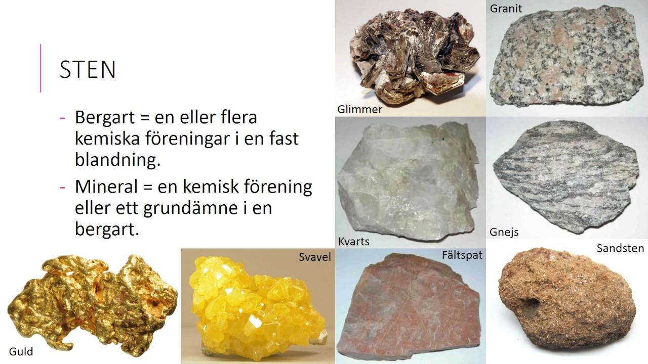 stenar mineraler och bergarter