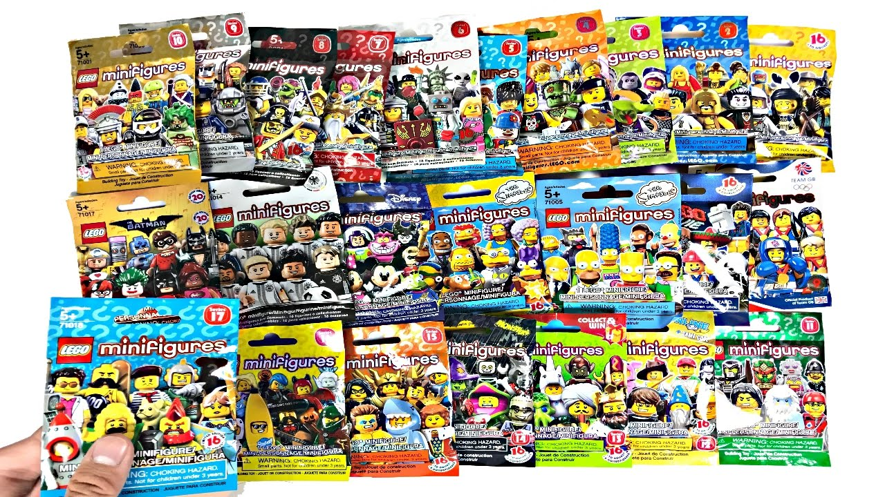Lego Minifigures Opening All 24 Series Youtube 71017 Batman Movie Box Of 60