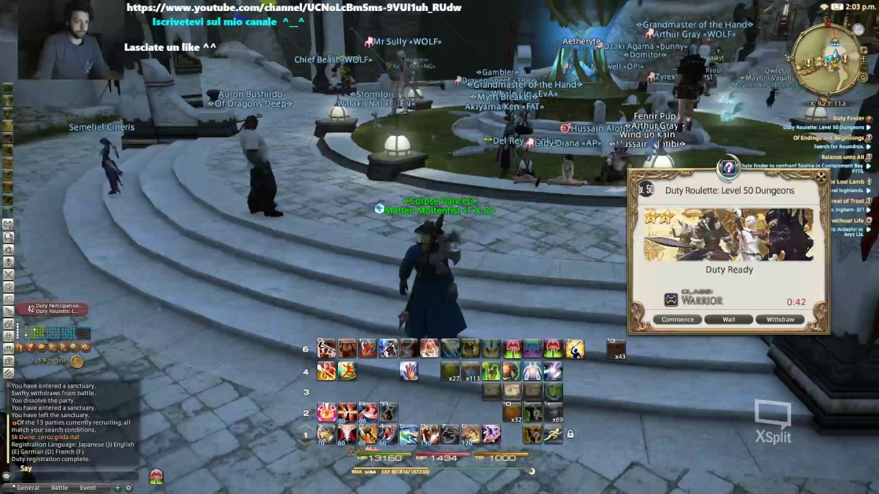 FFXIV Leveling warrior road to 60 part 2