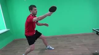 Настольный  теннис техника бэкхенда от мастера спорта  работа кисти