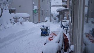 ミニローダーML30 2とヤマハ除雪機の合わせ技で手早く除雪!!~雪国の除雪風景~