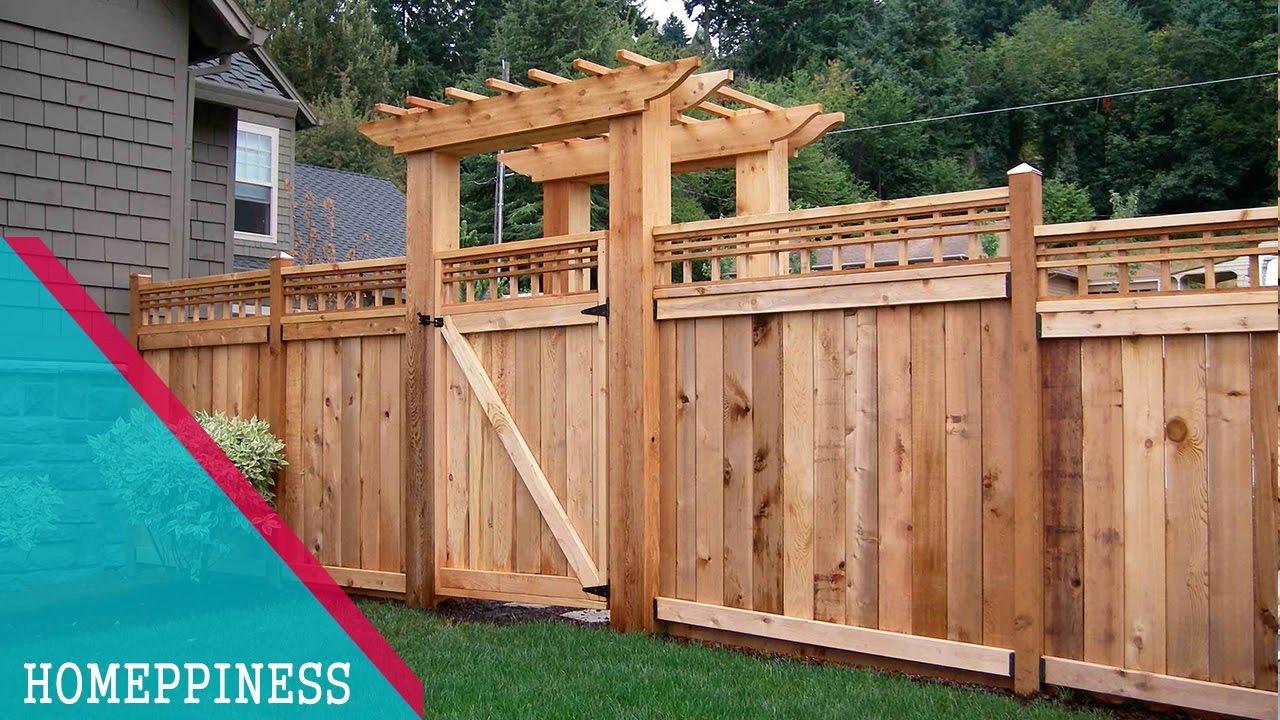 LATEST DESIGN 50 Wood Fence Ideas 2017  YouTube