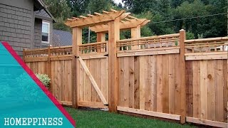 Gambar cover (LATEST DESIGN) 50+  Wood Fence Ideas 2017