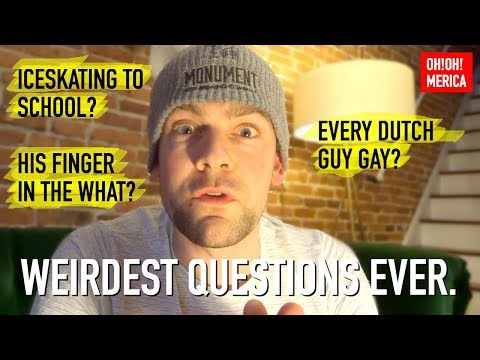 10 Weirdest Questions Americans Asked Me! (ice skating to school?)