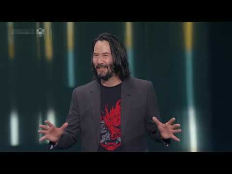 "Cyber Punk 2077   Keanu Reeves reaction to someone Shouting "" You're  Breath Taking"" Clip"