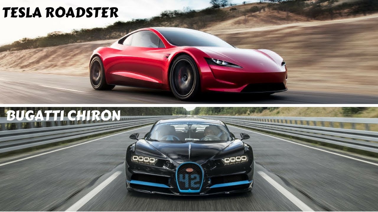 Tesla Sports Car Price >> Bugatti Chiron vs Tesla Roadster. - YouTube