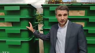 """Обзор контейнера для ТБО 0.8 м3 """"Euro"""" производства ТоргКомс-Групп"""