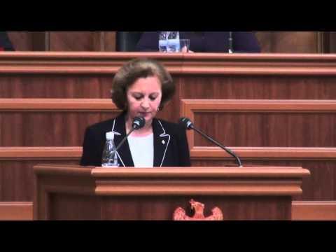 Zinaida Greceanîi - Discursul în plenul Parlamentului RM