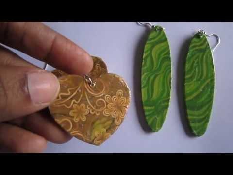 Handmade Jewelry - Card Paper Earrings (Album 4)