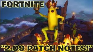 """FORTNITE:""""2.09 PATCH NOTES!"""""""