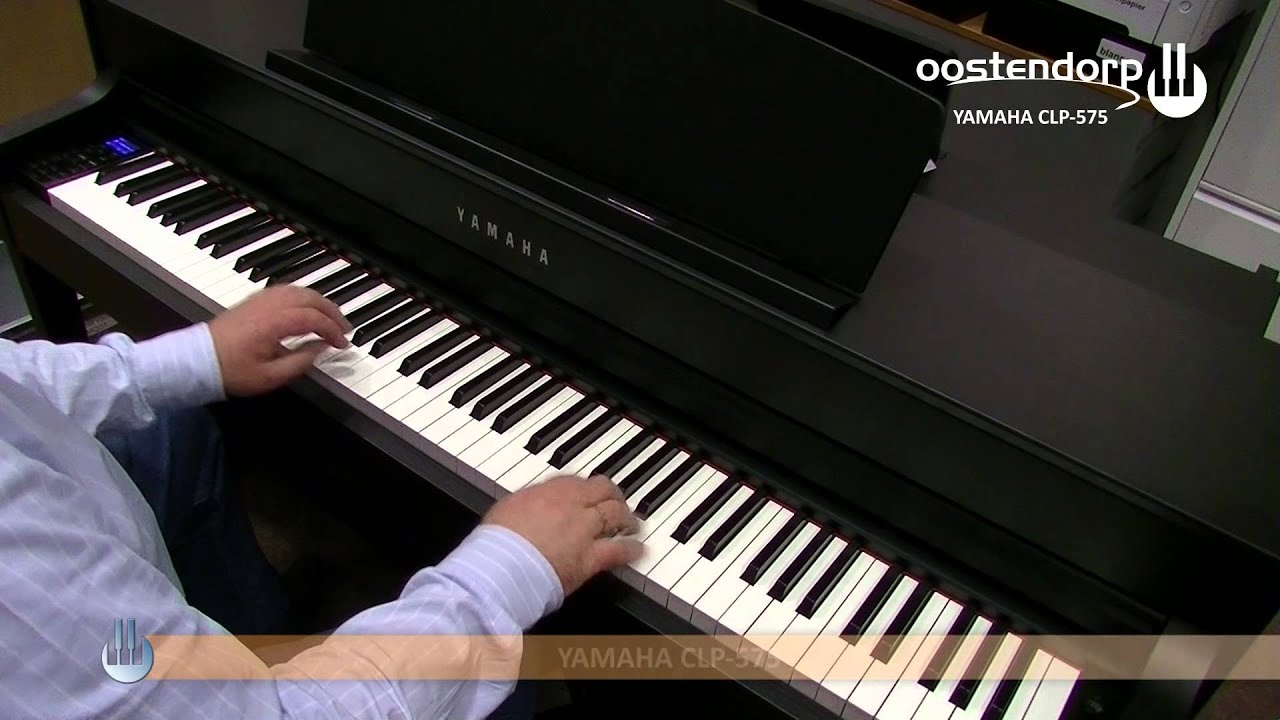 yamaha clp 575 digitale piano sounddemo youtube