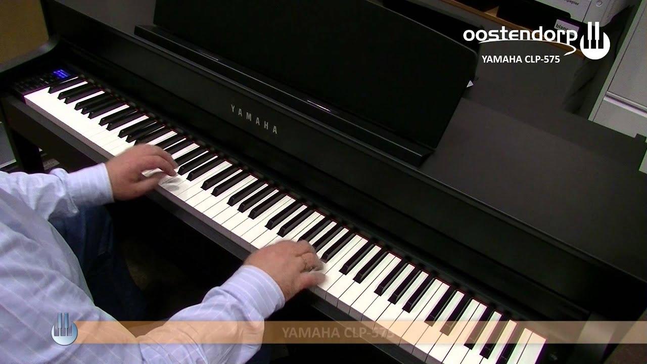 yamaha clp 575 digitale piano sounddemo youtube