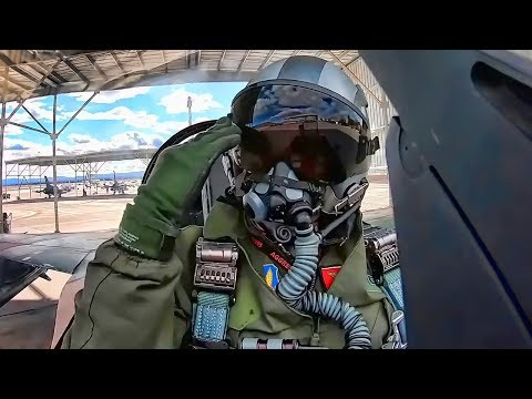 F-16 Aggressor Pilots Cockpit View • Nellis AFB Training