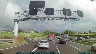 Dash cam crash - HGV gets hit by BMW on M62 motorway