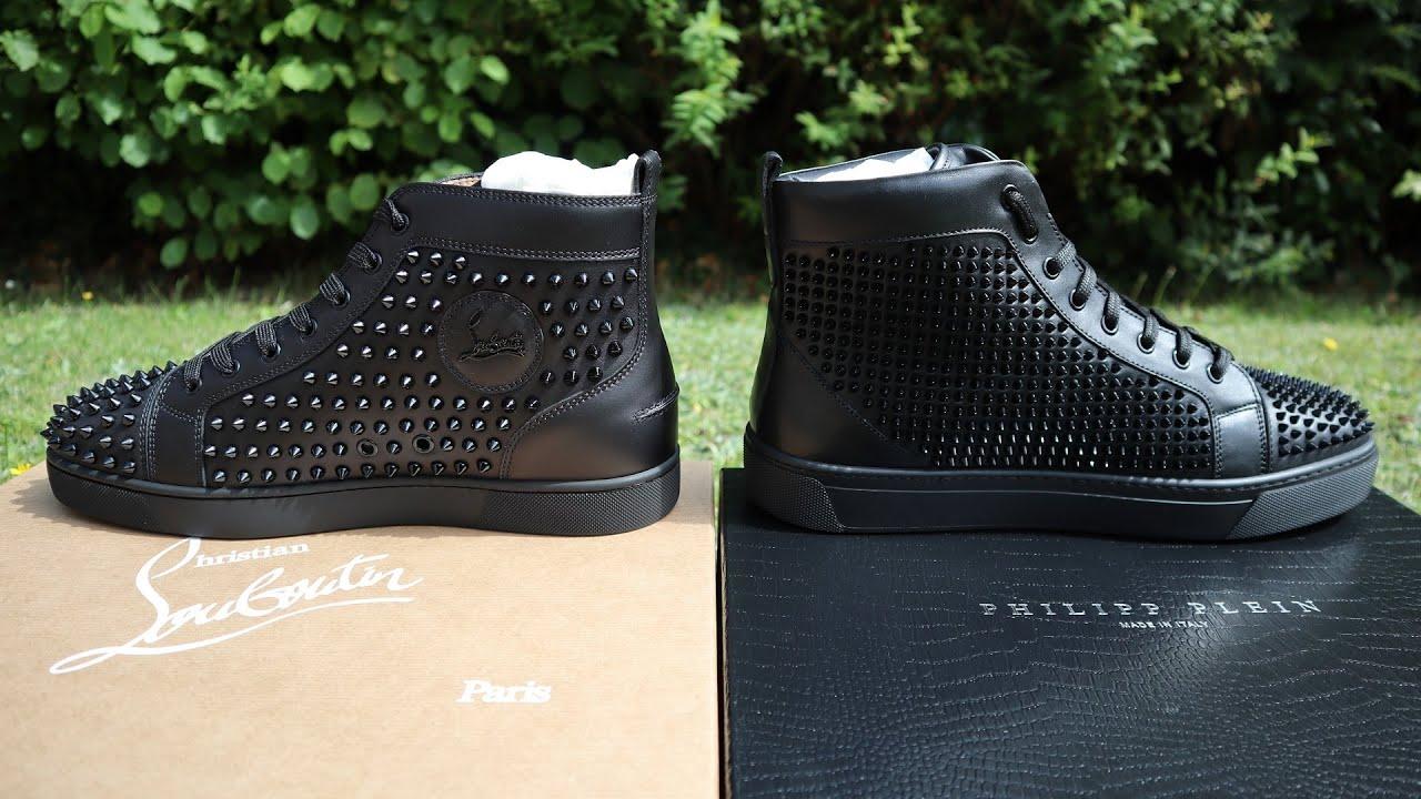 a292ddf6673c TOO SIMILAR  Philipp Plein vs Christian Louboutin Sneaker Comparison ...