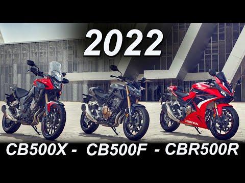 2022 Honda 500 Updates: CBR500R, CB500F, CB500X