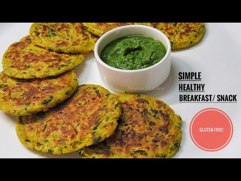 Simple Healthy No Aata No Maida Breakfast Recipe - Easy Gluten Free Recipe/ Jowar Ki Panki