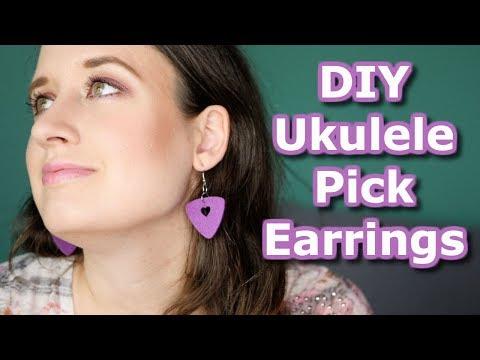 Easy DIY Ukulele Pick Earrings