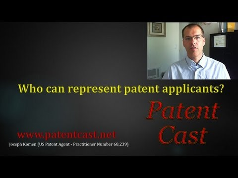 Who can represent an applicant for patent?
