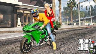 GTA 5 REAL LIFE MOD #504 K NINJA H2R DAY !!! (GTA 5 REAL LIFE MODS)