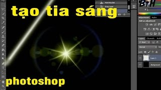 Tạo tia sáng tia nắng trong photoshop, create light rays in Photoshop
