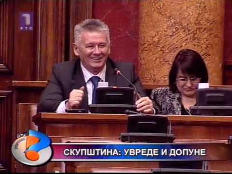 Skupština Srbije - psovke i prozivke