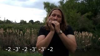 Губная гармошка С, блюзовый ритм #2, табы