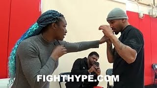 """(EPIC) ANDRE WARD GIVES CLARESSA SHIELDS ADVICE ON TECHNIQUE: """"AIN'T TRYING TO TAKE NO L'S"""""""