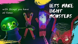 Make light monsters | DIY simple & easy circuit w coin battery & LED